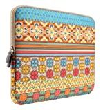 PLEMO Bohemian Style Canvas Fabric 15-15.6 Inch Laptop / Notebook Computer / MacBook / MacBook Pro Sleeve Case Bag Cover, Sunlight Garden