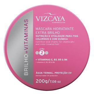 Vizcaya Brilho + Vitaminas Extra Brilho - Máscara Hidratante 200G