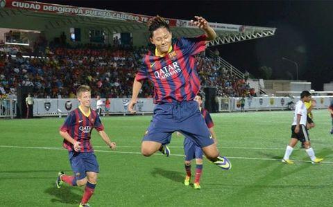 南韓U16竟發現神級射手?他正是巴塞被罰禁止球員交易的「元兇」!
