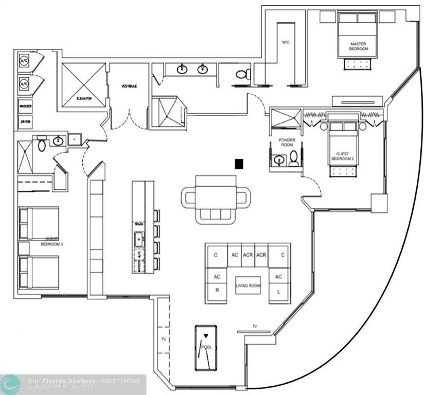 L'Hermitage for Sale - 3100 N Ocean Blvd, Unit 1510, Fort Lauderdale 33308, photo 83 of 98