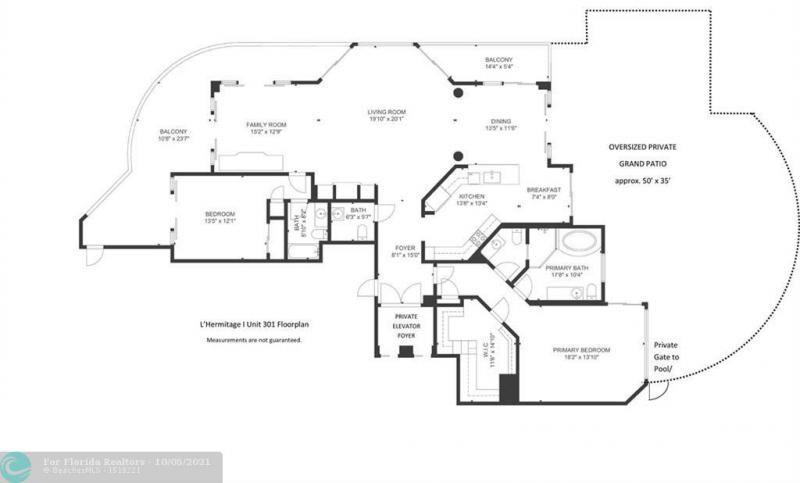 L'Hermitage for Sale - 3100 N Ocean Blvd, Unit 301, Fort Lauderdale 33308, photo 34 of 54