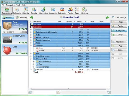 Personal Finances Pro v3.3 [Multi]