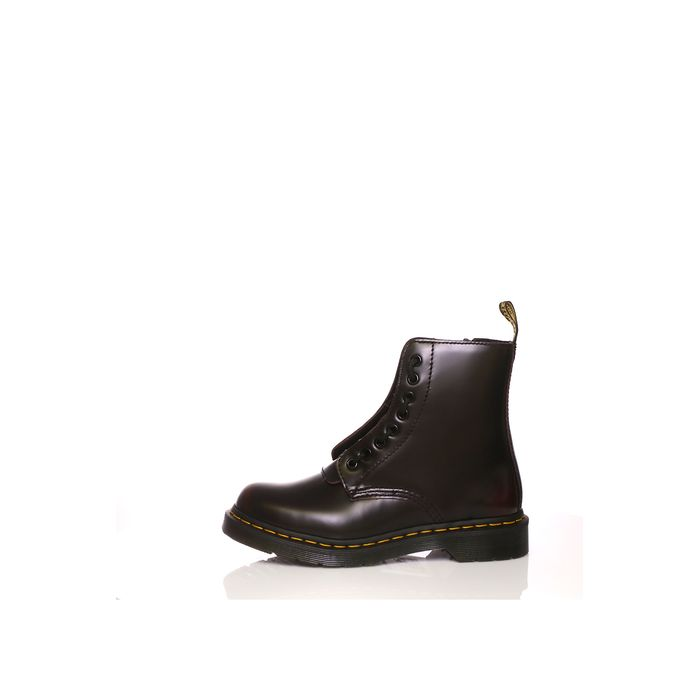 DR.MARTENS - Γυναικεία μποτάκια Pascal Frnt Zip 8 Eye Boot σκούρο μπορντό