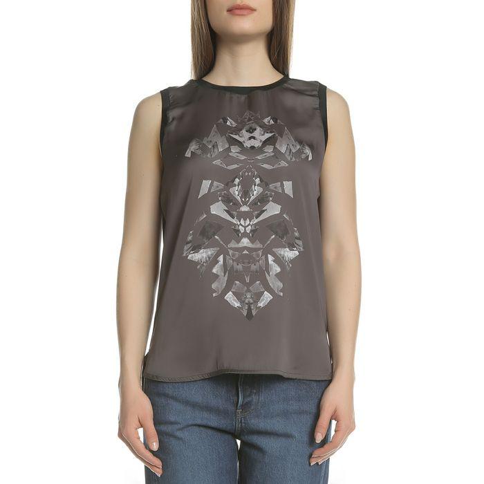 GARCIA JEANS - Αμάνικη μπλούζα GARCIA JEANS γκρι-μαύρη