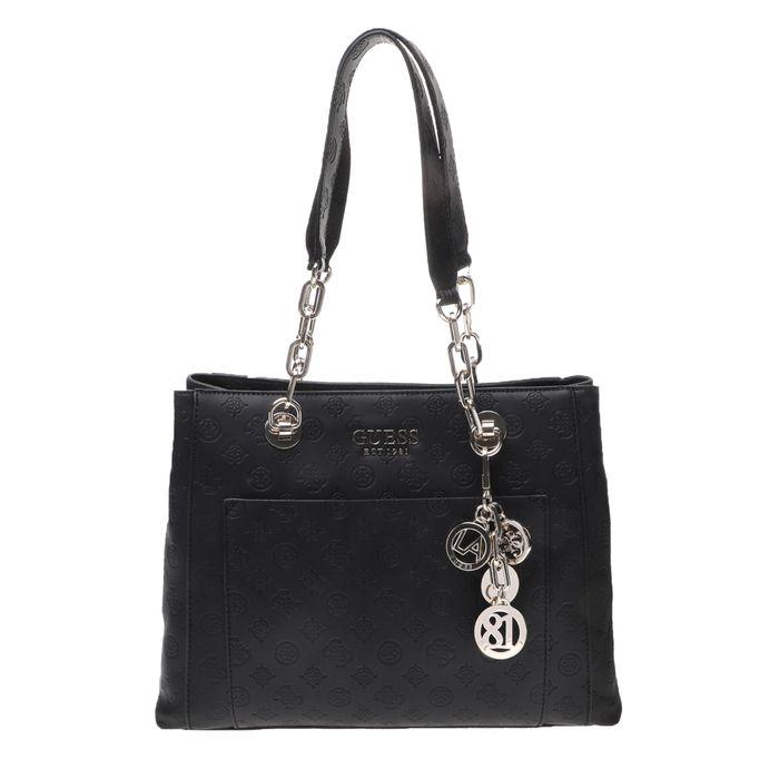 GUESS - Γυναικεία τσάντα ώμου GUESS ILENIA GIRLFRIEND CARRYALL μαύρη