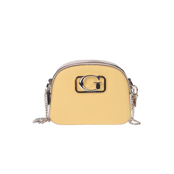 GUESS - Γυναικείο τσαντάκι ώμου GUESS κίτρινο-ροζ
