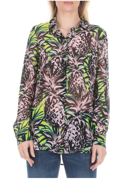 GUESS - Γυναικείο πουκάμισο GUESS LS CLOUIS με μοτίβο