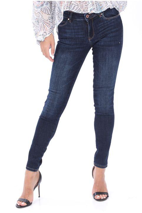 GUESS - Γυναικείο jean παντελόνι GUESS NOV DRP ULTRA CURVE μπλε