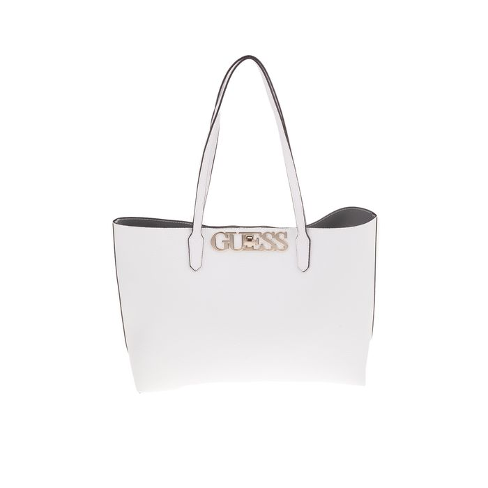 GUESS - Γυναικεία τσάντα ώμου GUESS UPTOWN CHIC BARCELONA λευκή