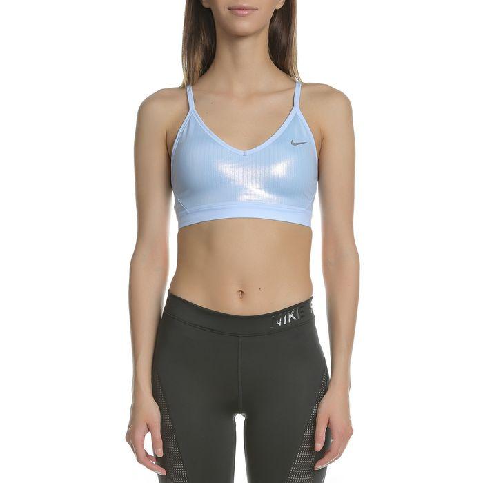 NIKE - Γυναικείο αθλητικό μπουστάκι NIKE INDY BRA PARTY PACK γαλάζιο