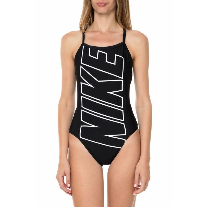NIKE SWIMWEAR - Γυναικείο ολόσωμο μαγιό NIKE RACERBACK μαύρο