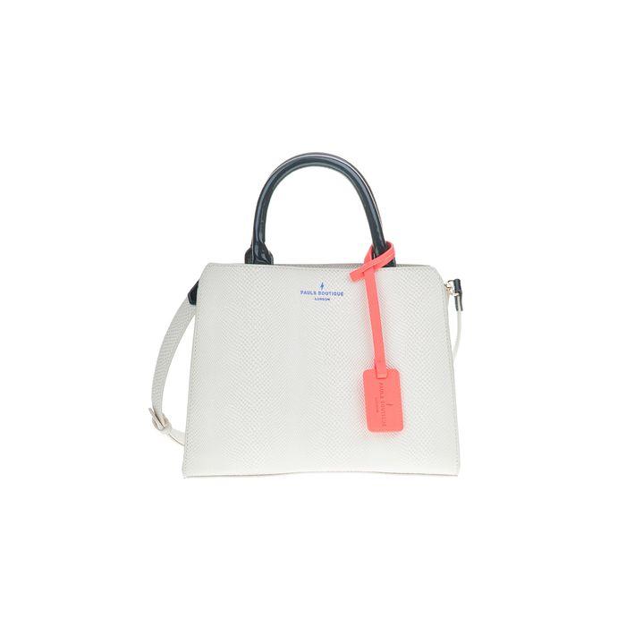 PAUL'S BOUTIQUE - Γυναικεία μίνι τσάντα χειρός LOGAN BERNERS λευκή
