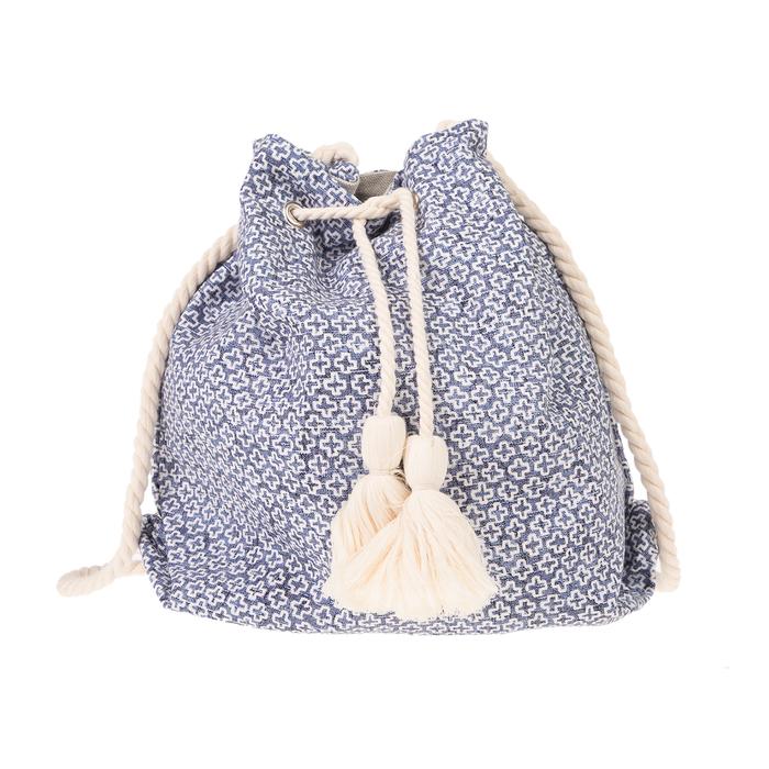 SUN OF A BEACH - Γυναικεία τσάντα SUN OF A BEACH Bucket Bag μπλε λευκή