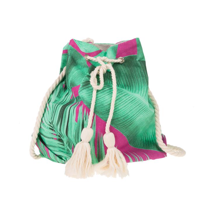 SUN OF A BEACH - Γυναικεία τσάντα SUN OF A BEACH BUCKET BAG πράσινη ροζ