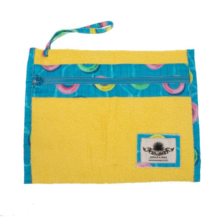 SUN OF A BEACH - Γυναικείο τσαντάκι SUN OF A BEACH Holiday Pochette κίτρινο μπλε