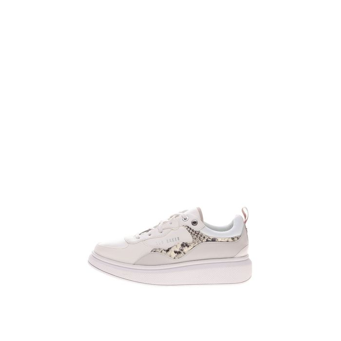 TED BAKER - Γυναικεία sneakers TED BAKER ARELLIS EXOTIC TRIM TRAINER λευκά