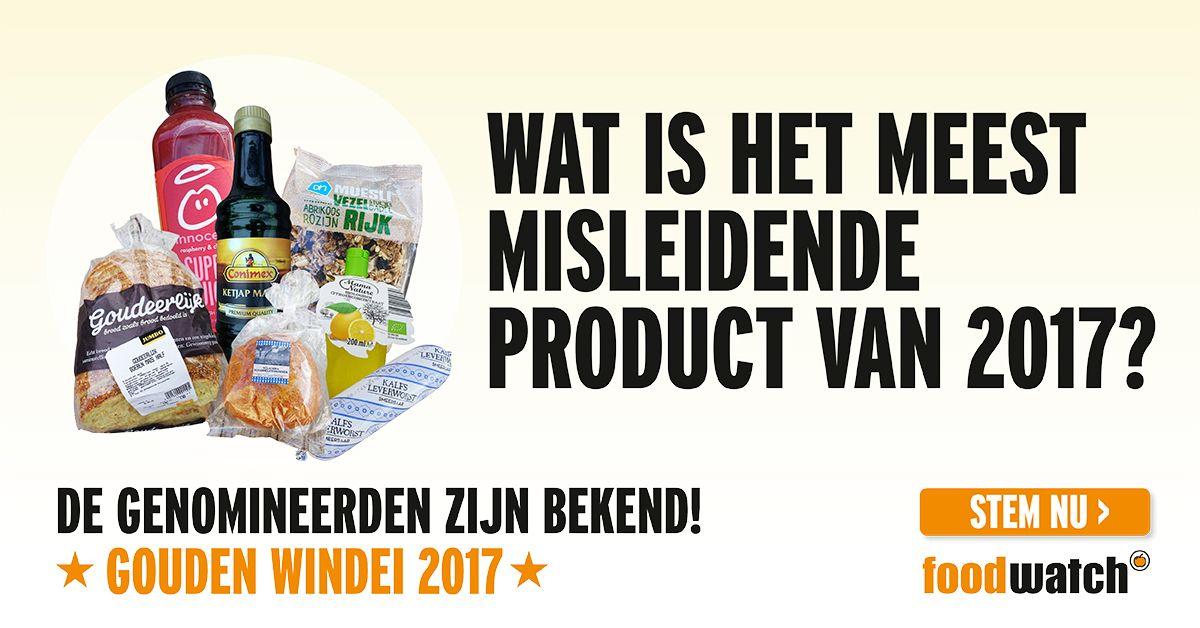 Verkiezing voor meest misleidende product 2017 van start