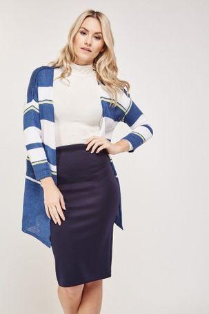 Multi Stripe Fine Knit Cardigan