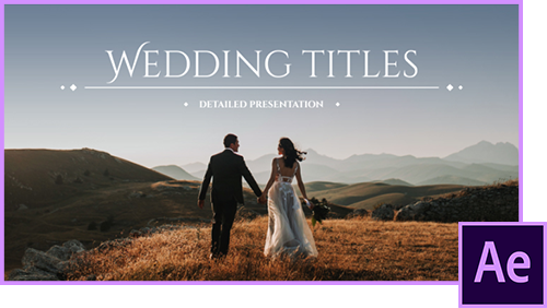 50 Wedding Titles [Szablon After Effects]