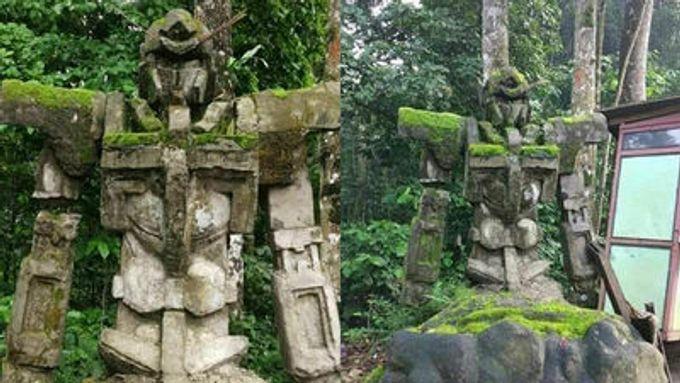 百年前已開始武力介入?印尼原始森林發現能天使高達石像