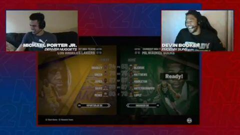 Michael Porter Jr.叫Devin Booker在2K賽中選擇太陽隊,Booker:不了