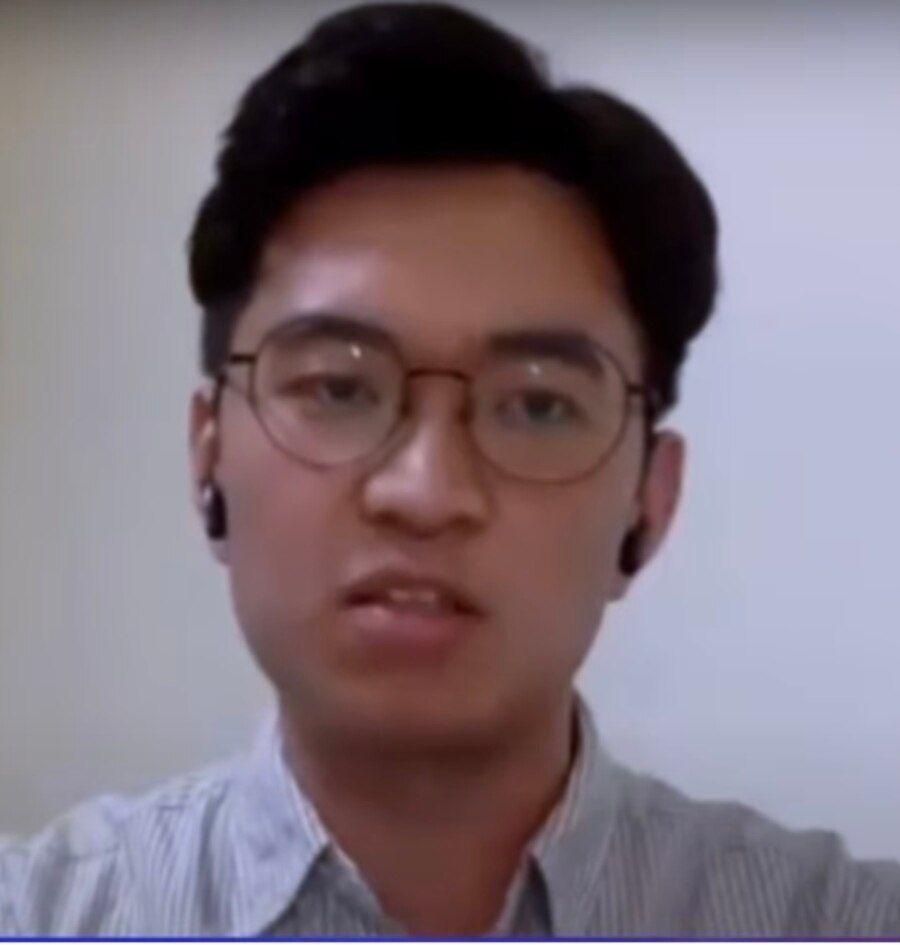 《缅甸时报》资深记者刘忠恩。(美国之音2021年3月资料照)