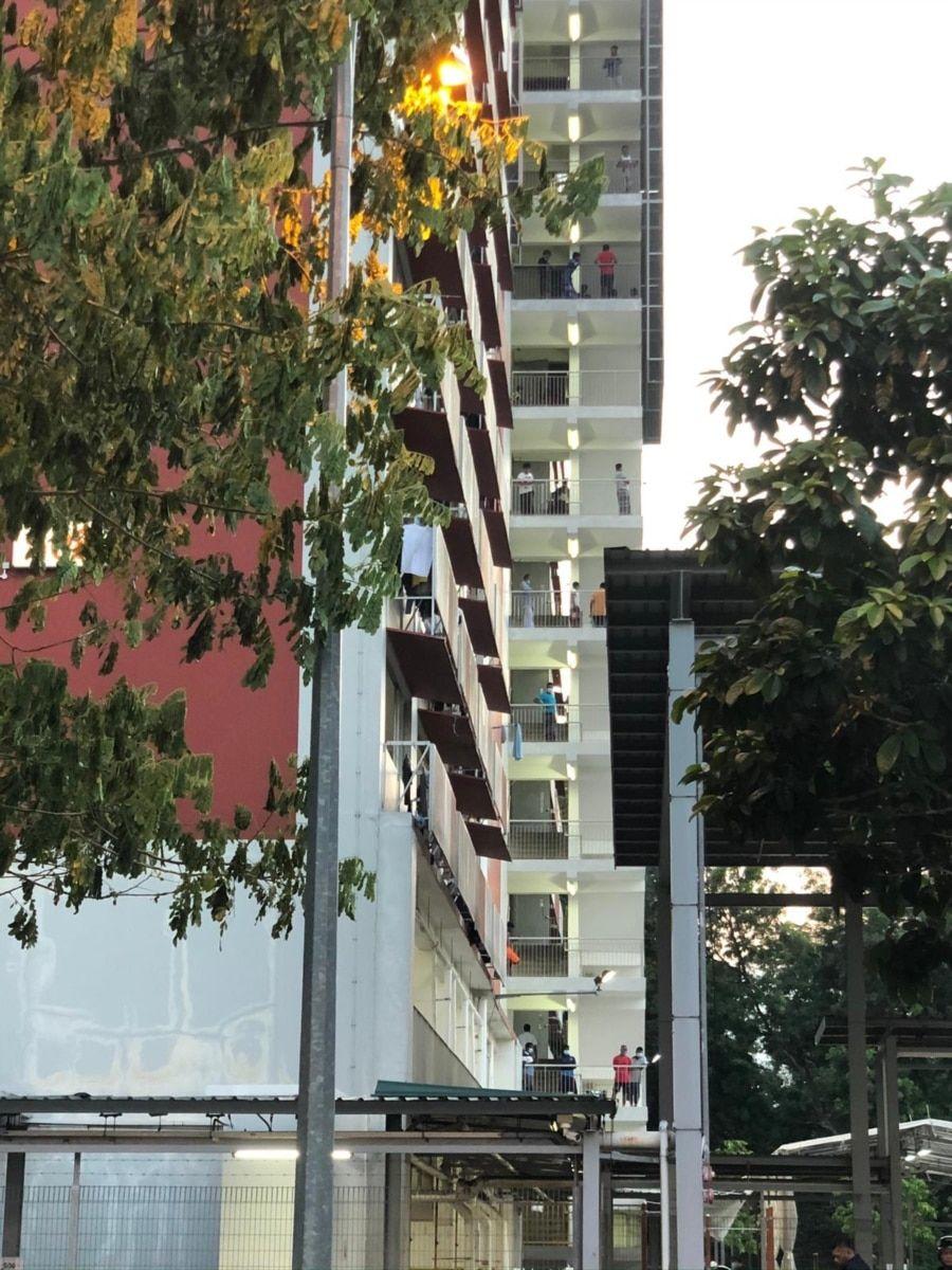 新加坡外籍劳工宿舍(韩俐颖提供)