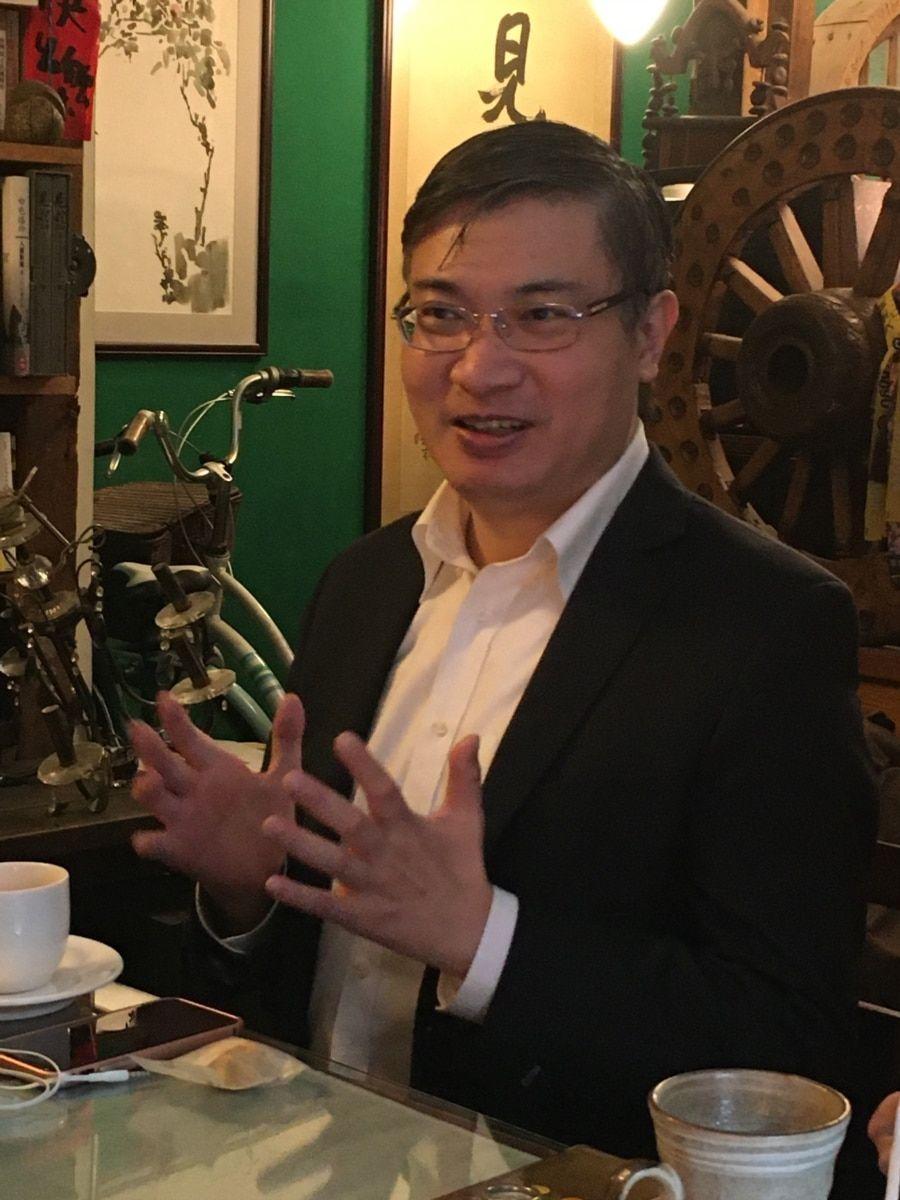 台湾香港协会理事长桑普。(记者陈筠摄)