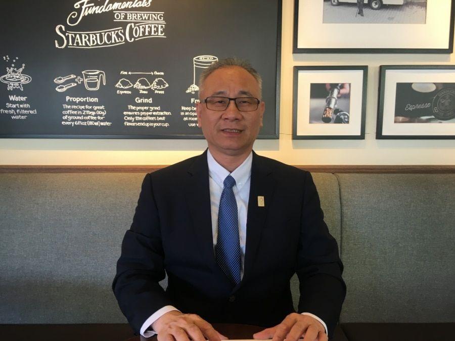 台湾政治大学国际关系学院学者陈文甲。(陈筠拍摄)