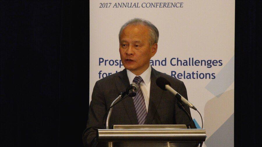 中国驻美大使崔天凯 (美国之音尼亚拍摄)