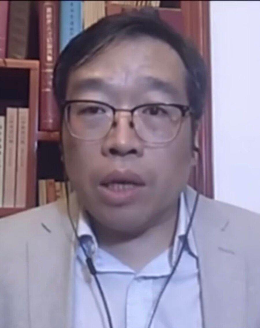 中国政治评论人士吴强博士。(照片来自美国之音中文网2020年9月2日)