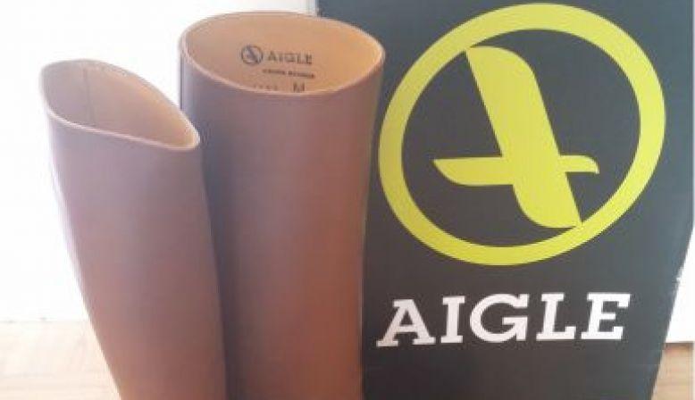 Bottes d'équitation AIGLE marron - femme & pointure 38- NEUVES!