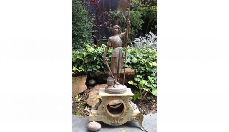 Statue Jeanne d'Arc en bronze à l'ancienne