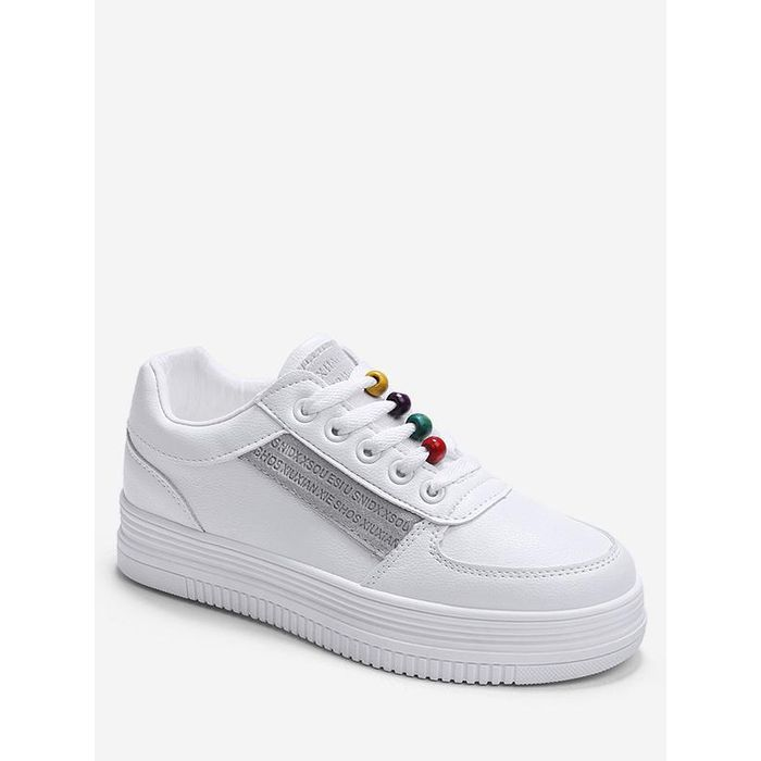 Rainbow Beads Platform Sports Shoes