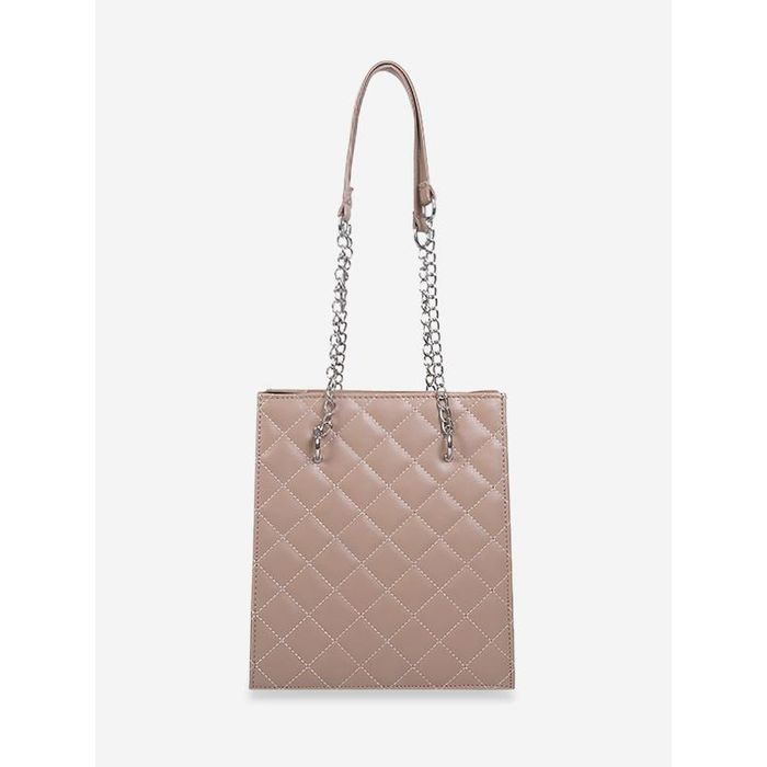 Chain High Capacity Rhombus Quilted Shoulder Bag