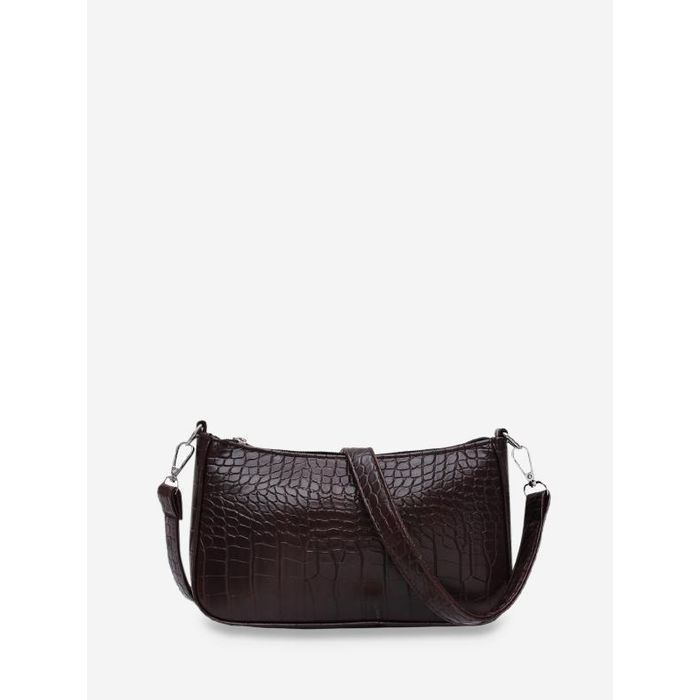 Animal Embossed Simple Style Sling Bag