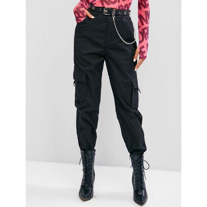 Flap Pocket Beam Feet O-ring Cargo Pants
