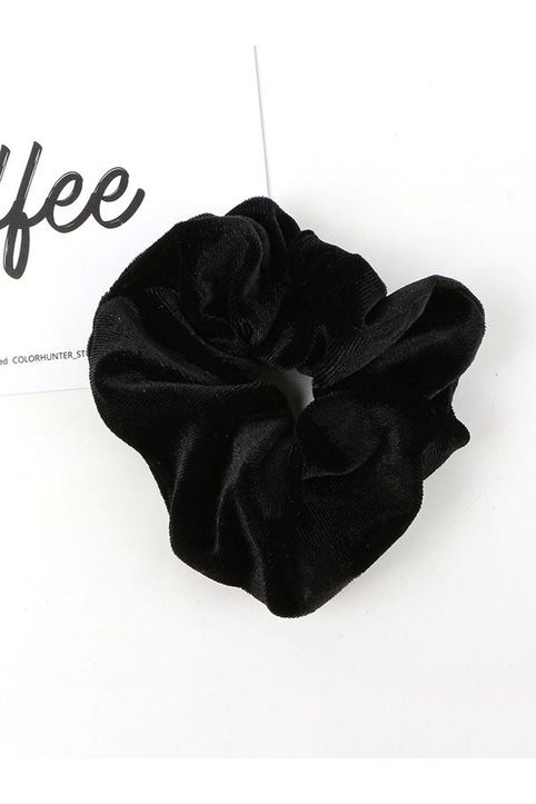Solid Velour Fabric Scrunchie