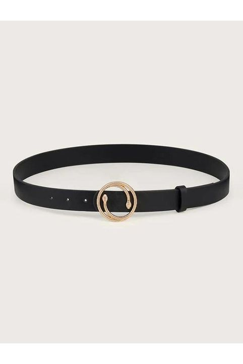 Snake Shape Round Buckle Belt