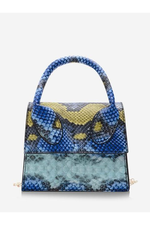 Snakeskin Pattern Mini Square Handbag