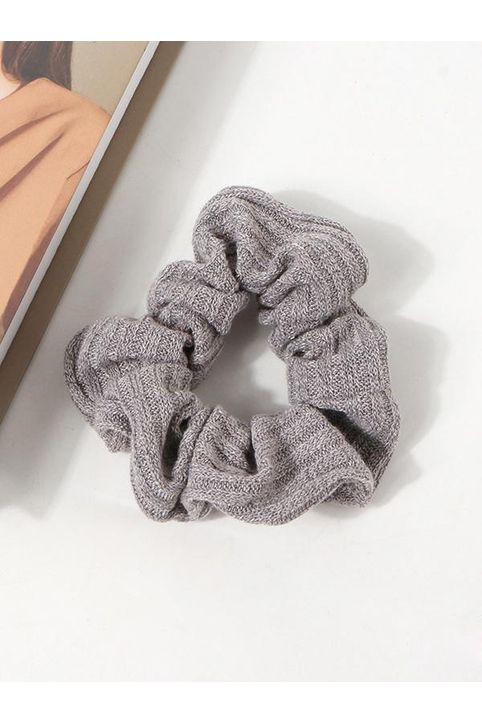 Solid Knitted Fabric Scrunchie