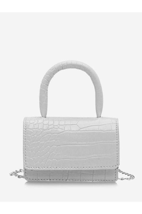 Animal Embossed Flap Mini Tote Bag