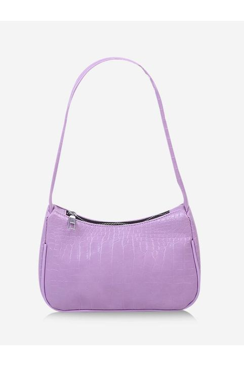 French Style Textured PU Shoulder Bag