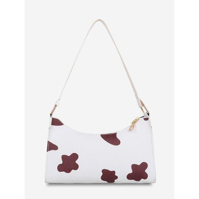 Cow Spot Printed Shoulder Bag