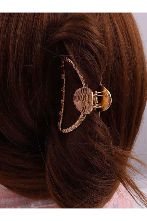 Gold-Tone Constellations Engraved Hair Claw Clip