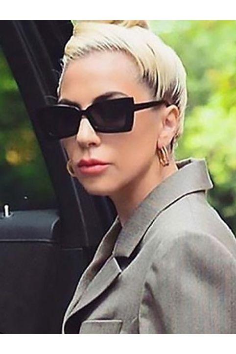 Minimalistic Retro Style Rectangle Frame Sunglasses