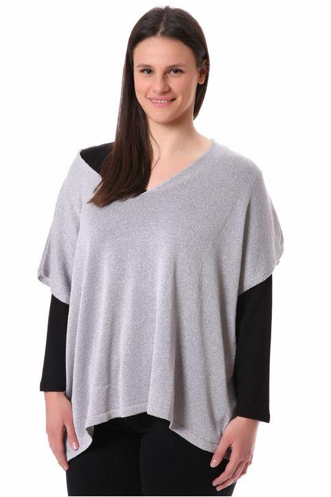 Πλεκτή μπλούζα ασημί