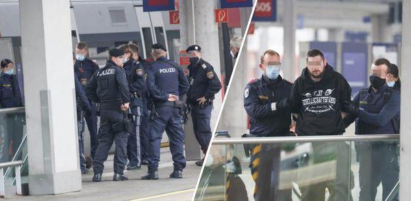 Mann drohte in Zug, Polizei nahm ihn am Bahnsteig fest