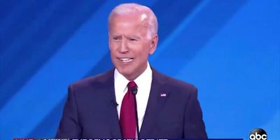 What's going on with Biden's teeth here?