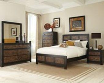 Complete bedroom set furniture rental.